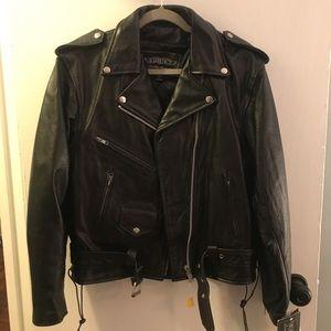 COPY - NWT - Women's genuine leather moto jacket …